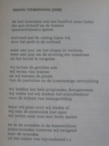 Vinkenoog gedicht